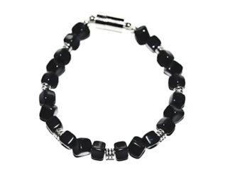 Pärlarmband svarta glaspärlor
