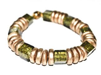 Pärlarmband gröna glaspärlor