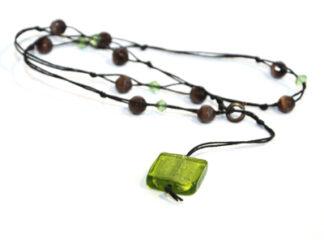 Halsband svart gröna bruna