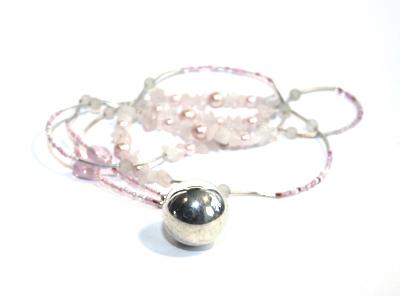 Halsband rosa gravidbola