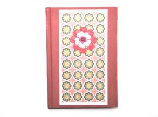 Blommig anteckningsbok