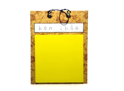 Notisblock - kom ihåg