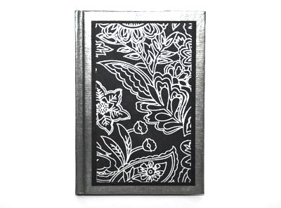 Anteckningsbok silver svart