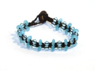 Makraméarmband brun blå