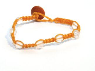 Makraméarmband orange transparenta