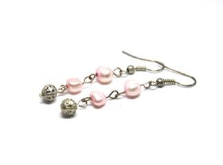 Rosa örhängen sötvattenspärlor