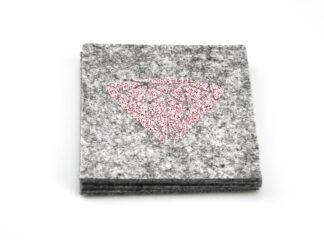 Underlägg grått diamanttryck