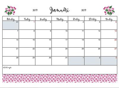 kalender körsbär 2019