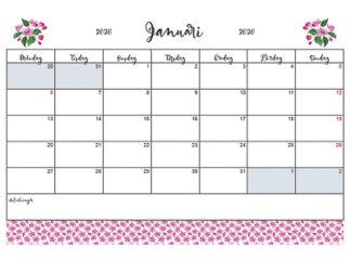 kalender körsbär 2020