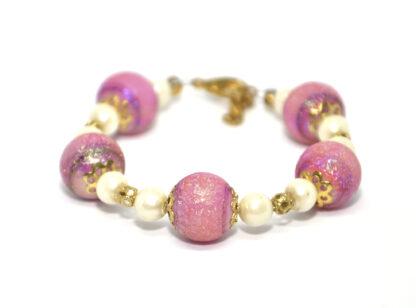 armband rosa guld
