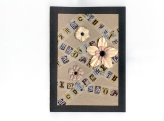 kort blommor bokstäver