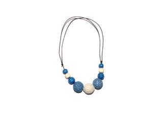Amningshalsband blått