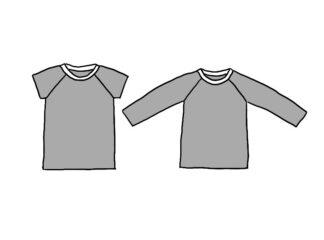 T-shirt med raglanärm